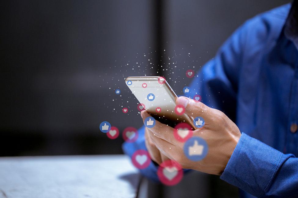business-using-phone-social-media-social