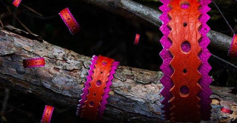 Budapester ⬛️🖤⚫️_Pink __Orange _Leather