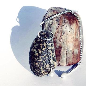 Bite Ring & Bite Bracelet ⚫️🖤⬛️ Silver