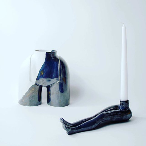 LaLa Vase &_ LaLa candle holder_⚫️🖤⬛️.j