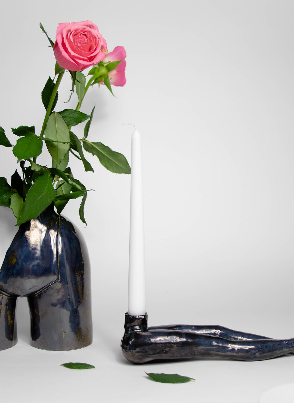 """LaLa"" CandleHolder Porcelain"