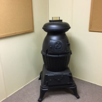 Original stove from the Arnoldsville Gym
