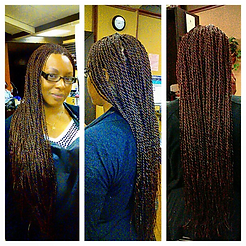 Senegalese Twists done by The Kinky Twist Queen