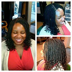 Mid-length Kinky Twist done by The Kinky Twist Queen
