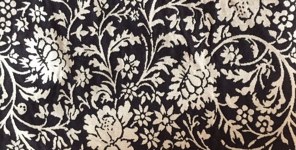 Black and Natural Floral