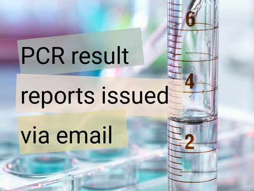 PCR Result Reports Issued Via Email