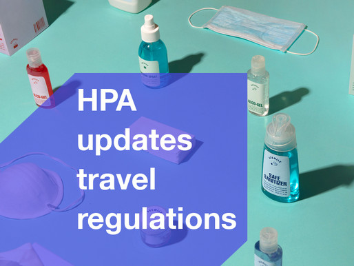 HPA updates travel regulations.