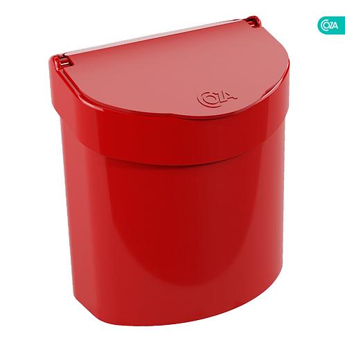 Basurero para Fregadero 2.7Lt Rojo Bold