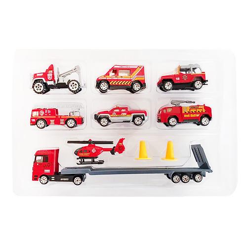 Set de vehículos de metal plástico TN-1026H