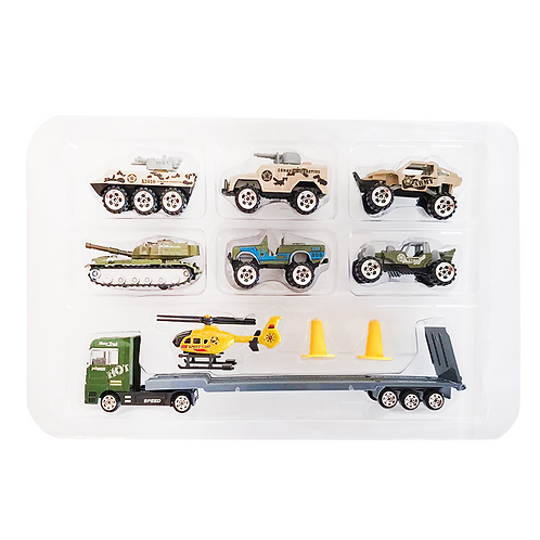 Set de vehículos c/accesorios en caja TN-1026K