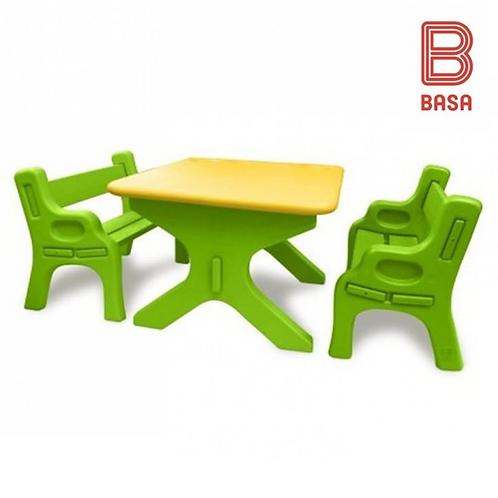 Set didactico (1 mesa + 2 bancas)