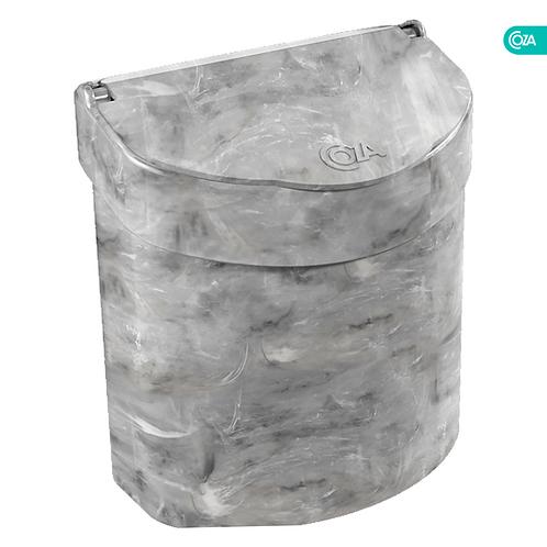 Basurero para Fregadero 2.7Lt Glass Mármol Blanco