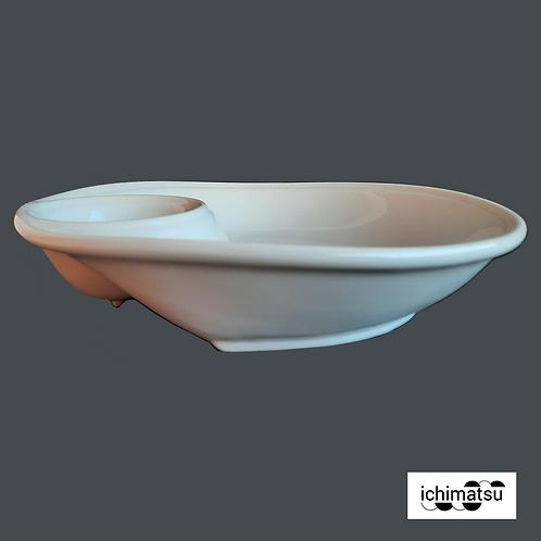 """Plato chip & dip 12"""" loza JY-9125-12"""