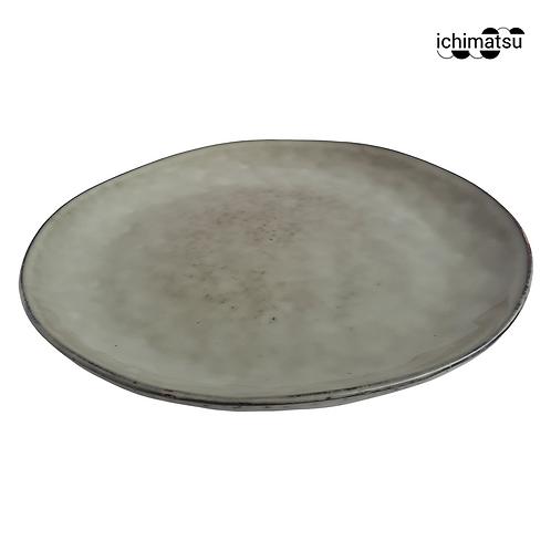 Plato Tendido Forma Irregular 20.5x2.2cm Reactivo Glaseado JM1004