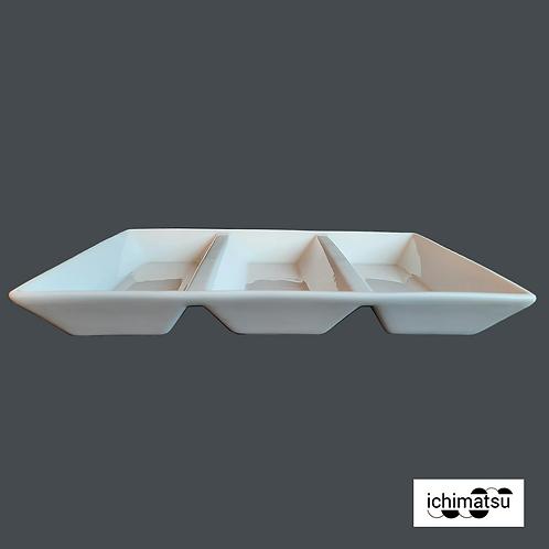 Fuente rectangular 3 div. 25.4X17.8X3.5cm