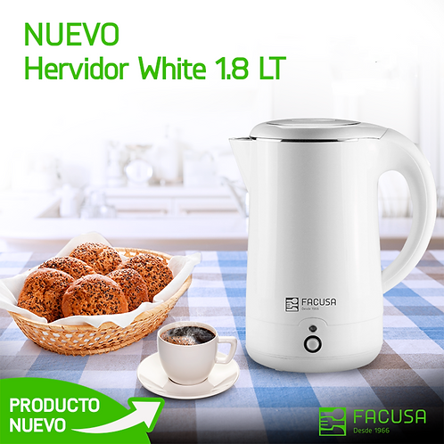 Hervidor (OG-18X) white 1.80 lt