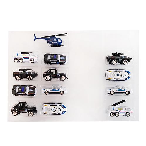 Set vehículos de metal plástico