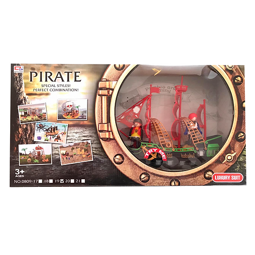 Set barco pirata pla stico c/luz