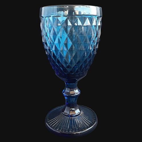Copa de Vidrio Azul HME32-003BL