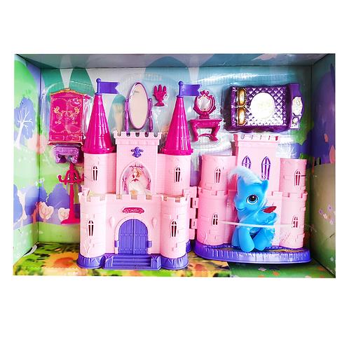 Set castillo plástico c/accesorios