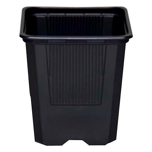 Maceta cuadrada Premium VQB 9X9X9.5cm Color Negro
