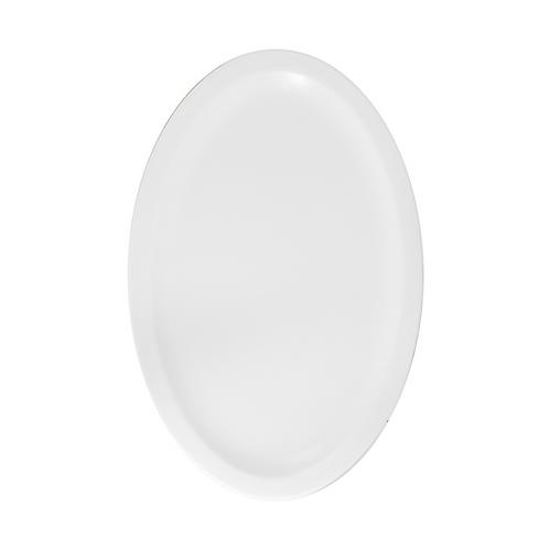 """Fuente loza oval blanco 10"""""""