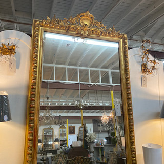 Antique French Mirror with Shells