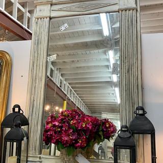 "Antique Trumeau Painted Mirror  47""x 701/2"" $2495.00"