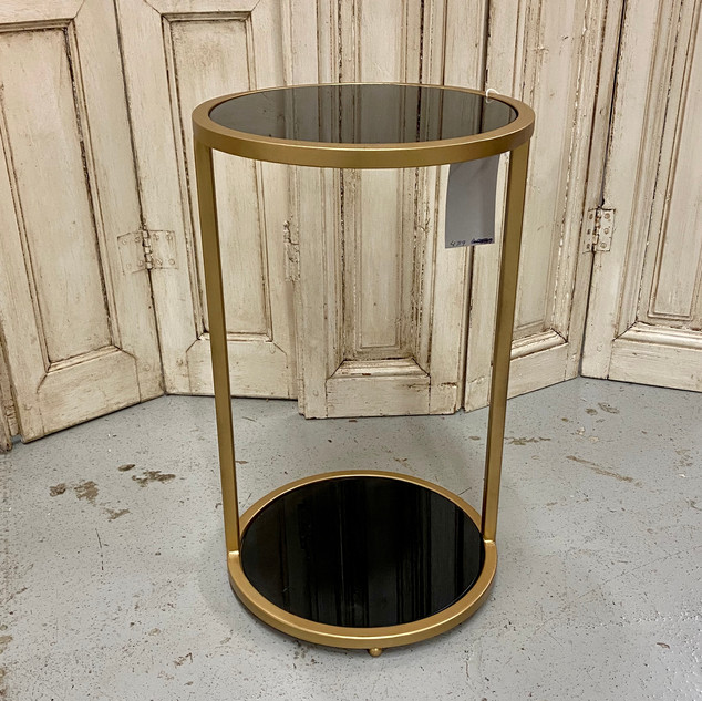 Gold and Black 2 Shelf Accent Table $255.00