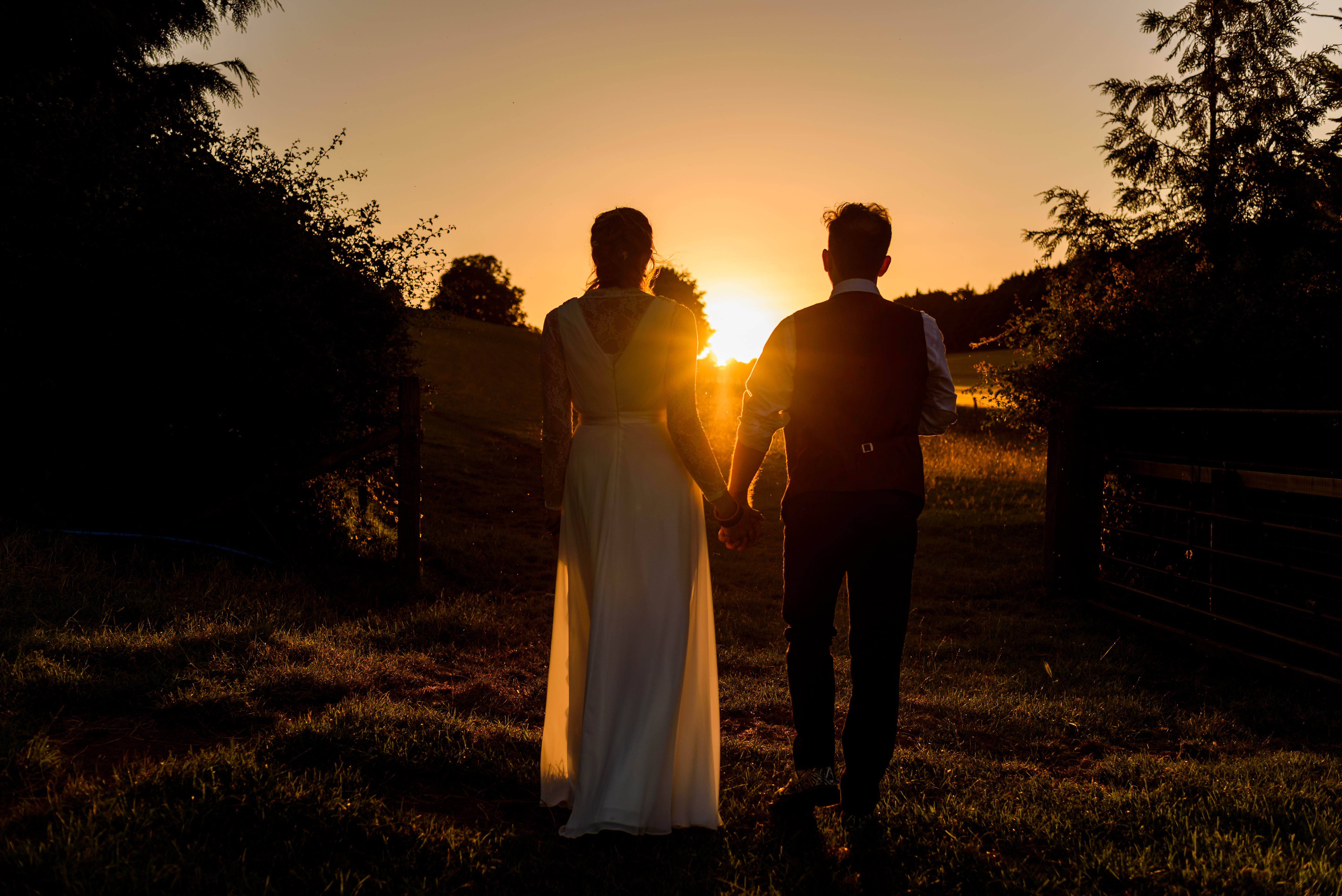 Tipi Wedding Sunset