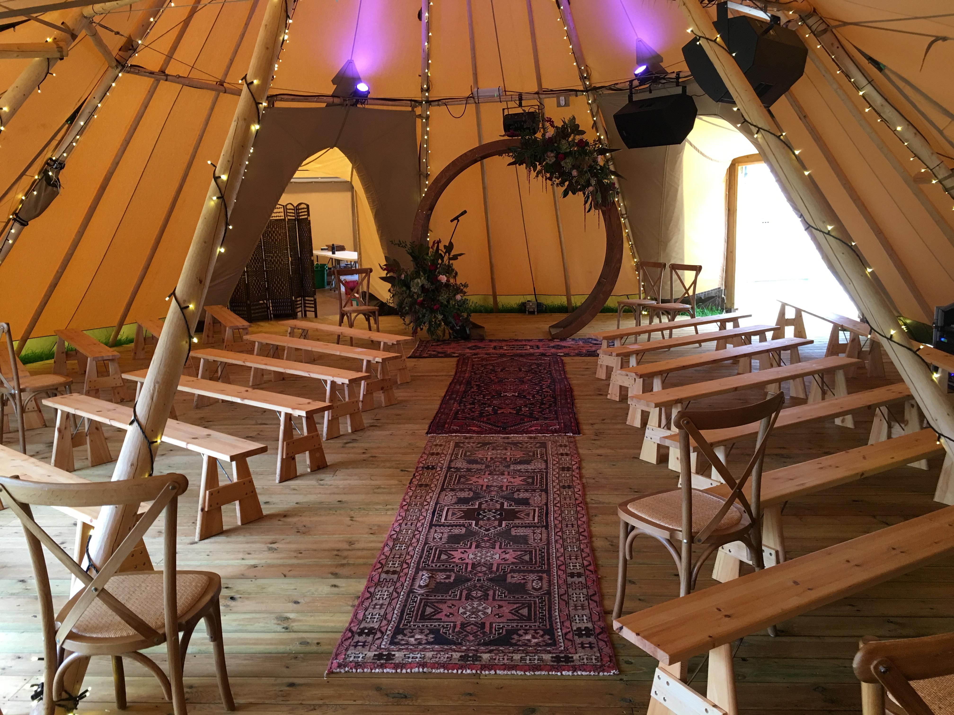 Tipi ceremony indoor