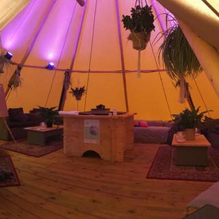 Hadsham farm chill-out tent