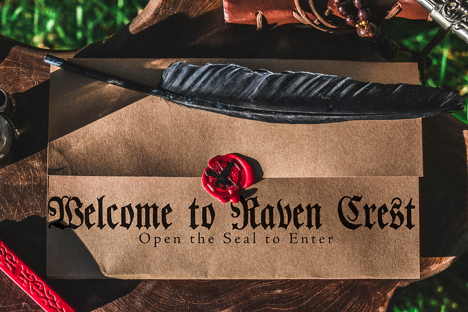 Raven Crest Letter and Seal