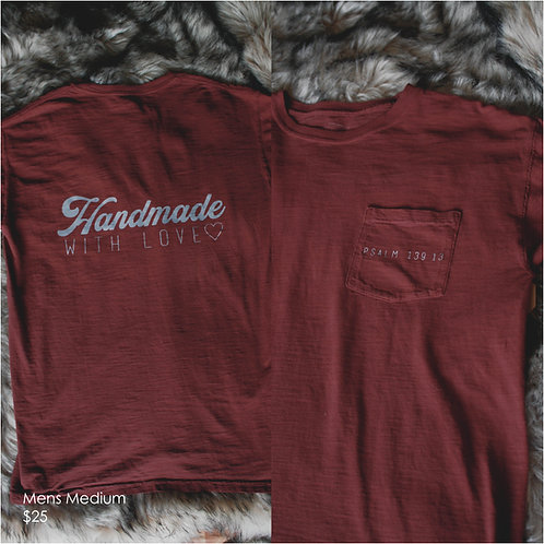 Handmade with Love Pocket Tee (Medium)