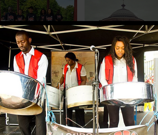 LAS Performing at Brixton's African and Caribbean War Memorial