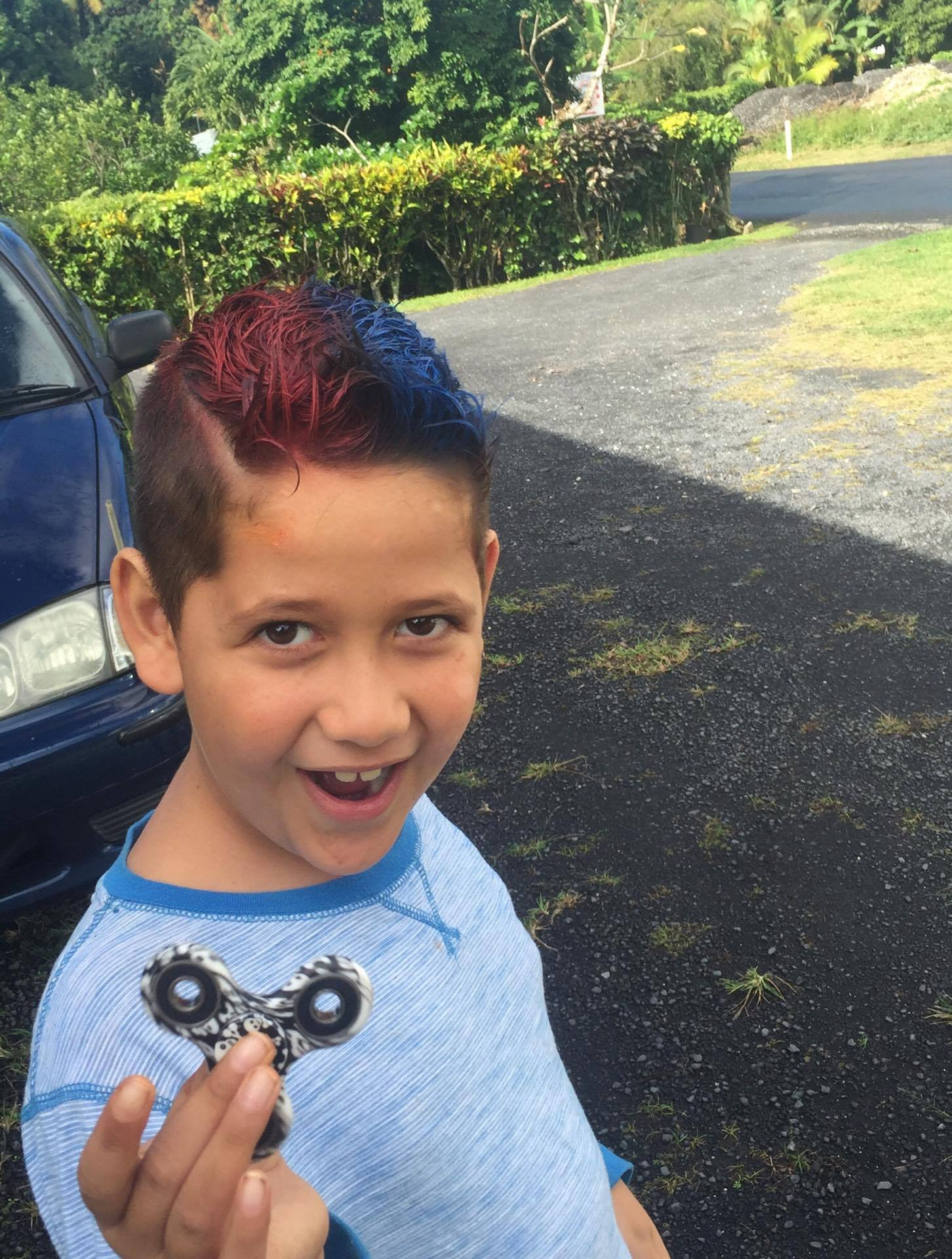 Kids hair cut & colour