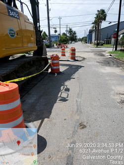 """24"""" water line construction along Victory Ave"""
