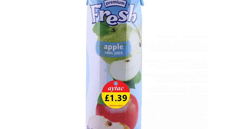 Fresh 100% Apple Juice.