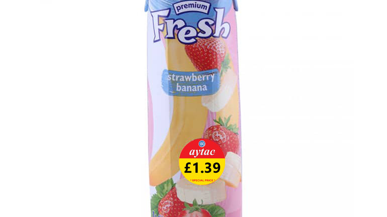 Fresh Strawberry Banana Juice.