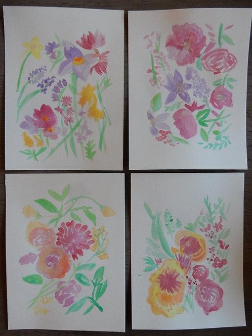 Flower Bundle (set of 4)