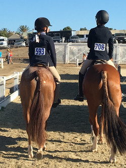 pony riders at show