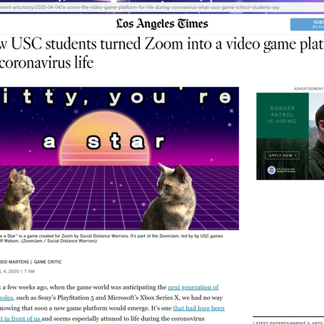 Zoom Jam in the LA Times!