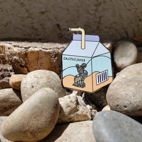 Cactus Juice Box Hard Enamel Pin