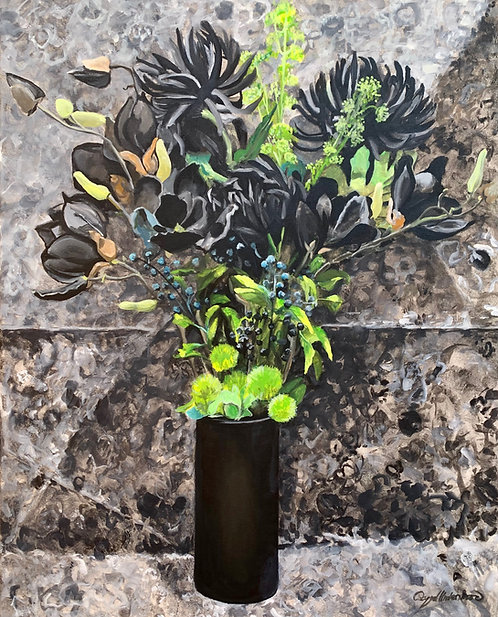 Color Wheel Floral Black