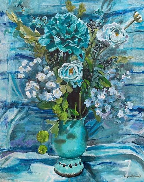 Color Wheel Floral Blue