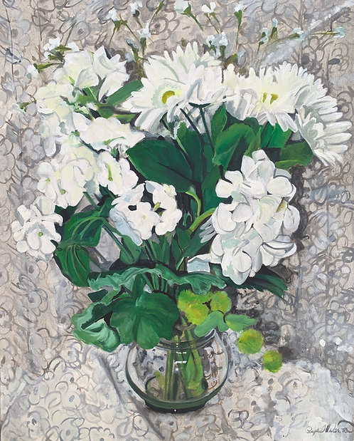 Color Wheel Floral White