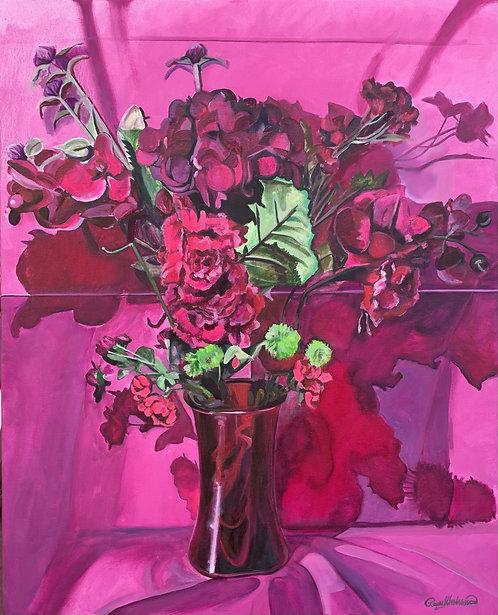 Color Wheel Floral Red-Violet