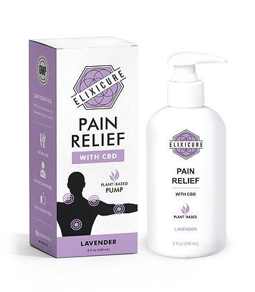 Elixicure Pain Relief Cream Pump - Lavender 8oz