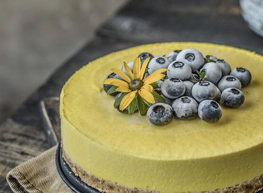 Fără Gluten/ RawVegan -Cheesecake Mango- Turmeric