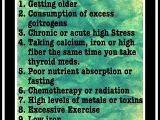 12 moduri în care se inhiba Tratamentul Tiroidian